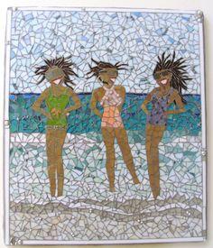 Mosaic Custom beach turquoise women bathing suits ocean waves sand by PsykelChic on Etsy https://www.etsy.com/listing/150212301/mosaic-custom-beach-turquoise-women