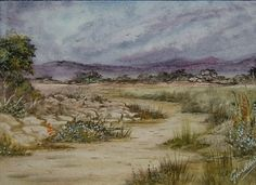 watercolour landscape painting (ref 087) £10.00
