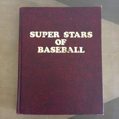 Super Stars of Baseball Book Signed by by RetroResaleSanDiego