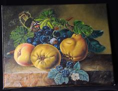 My Flemish Still Life copy. Painted by me on canvas on subrame.