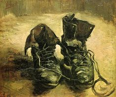 """Vincent Van Gogh. """"Shoes"""". 1886 g. 37.5 x 45 cm. Oil on canvas. The Van Gogh Museum, Amsterdam, The Netherlands."""
