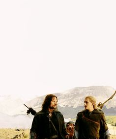 Lord of the Rings Aragorn Legolas Gimli Middle Earth. This picture is gorgeous Legolas And Gimli, Aragorn, Gandalf, Saga, Fellowship Of The Ring, Lord Of The Rings, J. R. R. Tolkien, Into The West, The Two Towers