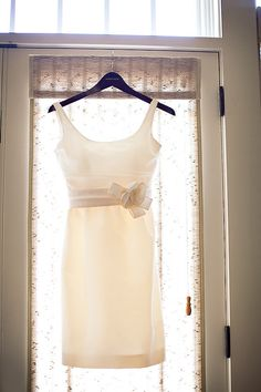 Amsale makes a conservative but sexy short dress for the #bride, and this would be perfect for the rehearsal.