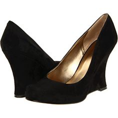 Nine West Beeout - zappos - I *need* black suede wedges!