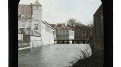 Rekenkamer, Egmond galerij en Blokhuis van het Kasteel van Breda gezien vanaf het Westen. 1924 (foto is wel ingekleurd)