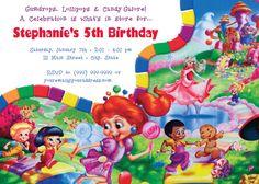Candyland Theme Invite