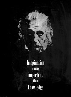 Imagination is more important than knowledge. Einstein.
