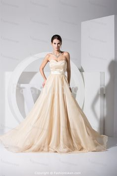Holiday Sweep Train Champagne Special Occasion Dress Wholesale Price: US$ 159.99