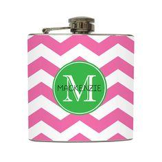 Personalized Flask Custom Name Initial Monogram by LiquidCourage, $22.00
