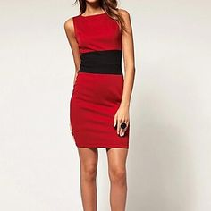 Women's Bodycon/Casual/Sexy/Work Micro-elastic Sleeveless Above Knee Dress ( Others )(1570809) – USD $ 19.19