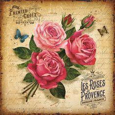 rosas peovence servilleta vintage ads © bruno pozzo 2016