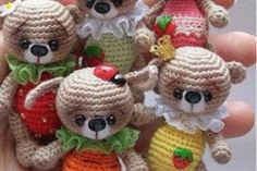 Crochet Tiny Teddies Free Pattern