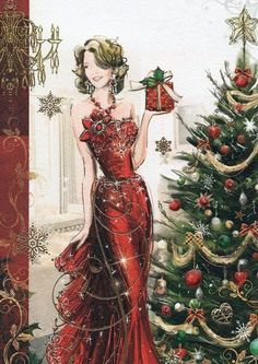Vintage Christmas Brownie brownie 6 names Christmas Scenes, Noel Christmas, Christmas Fashion, Vintage Christmas Cards, Christmas Pictures, Christmas Wishes, Xmas Cards, Christmas Greetings, Christmas And New Year