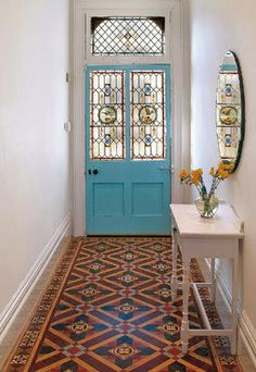 tiled floor - stained glass