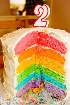 All In A Mom's Day: Rainbow Cake