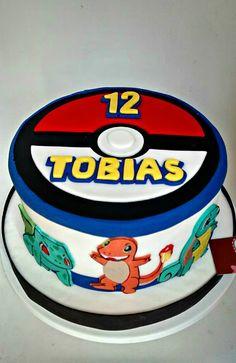 "Torta de ""Pokémon"" │""Pokémon"" cake Pokemon Cakes, 5th Birthday, Birthday Cake, Logan, Birthdays, Desserts, Food, Pokemon Party, Cake Birthday"
