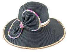 Wholesale fashion hat with wide brim bow!