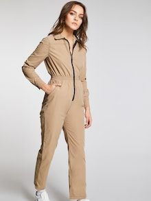 To find out about the Zip Up Elastic Waist Equipment Utility Jumpsuit at SHEIN, part of our latest Jumpsuits ready to shop online today! Romwe, Bridal Jumpsuit, Playsuits, Jumpsuits, Fashion News, Fashion Women, Fashion Online, Fashion Trends, Elastic Waist