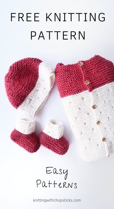 The strawberry seed baby set is a cute easy baby set of matching knitting patterns. It includes adorable booties. Rdigan and matching baby bl Easy Baby Knitting Patterns, Baby Cardigan Knitting Pattern, Knitted Baby Cardigan, Knit Baby Sweaters, Baby Hat Patterns, Knit Baby Booties, Knitted Baby Clothes, Baby Knits, Knitting Baby Blankets