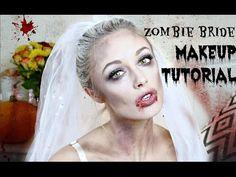 Zombie Bride Halloween Makeup Tutorial   Fashion Mumblr - YouTube                                                                                                                                                                                 More