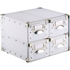 @Overstock - Keep your office organized in style with this white drawer storage bin. Made of plastic and featuring reinforced metal corners, it is made to last and keep your papers safe. This modern unit provides plenty of storage space for office essentials.http://www.overstock.com/Office-Supplies/White-Polypro-4-Drawer-Storage-Bin/3147628/product.html?CID=214117 $30.93