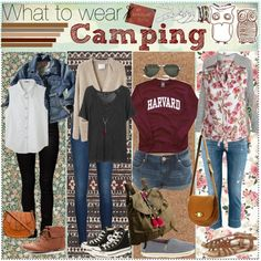 Who wears this stuff camping?? The 3rd one okay, yes, totally wearable.  But camping = dirt..
