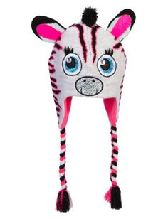 Zebra Critter Knit Earflap Hat | Girls Winter Accessories Accessories | Shop Justice