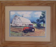 "NEW ALLIS-CHALMERS 8010 TRACTOR PRINT BY IA ARTIST C CARSON ""THE TRACTOR LADY"" #AllisChalmers"