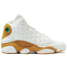f3f6342864fe21 Air Jordan 13 (XIII) Retro Wheats (White Wheat) ❤ liked on Polyvore
