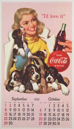 Coca-Cola Calender 1957