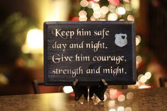 I love this police quote  Hand Painted Police Poem / Prayer Sign by VictoryDecals on Etsy, $13.00.    @leslie stamper