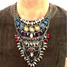 Boho Tribal Statement Necklace | Spotted on peoplestylewatchmag