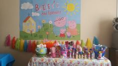 Peppa Pig party decor Pig Party, Baileys, Peppa Pig, 3rd Birthday, Decor, 3 Year Olds, Decoration, Decorating, Deco