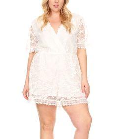 Loving this White Lace Romper - Plus on d8390eae37d5