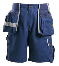 Faceline Workwear Shorts - JUBILEE Workwear Collection - products new home - Faceline Workwear_Carpenter_Jubilee_Tool pocket_Work shorts_Navy/Blue by Björnkl