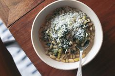 Braised Escarole with Beans - Molly Stevens - All About Braising - via Orangette - serve with bread and call it dinner!