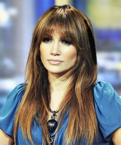 jennifer lopez fashion style | Jennifer Lopez Hairstyles With Bangs