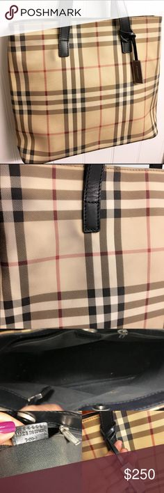 Burberry Nova Check Purse, TV $500 This is a highly desirable Nova Check Satchel by Burberry. Great for any get up so its a steal for the price. Authentic and serial code provided. Made in Italy. There are some wear/fading on canvas as well as inside lining with a few marks as pictured. No tear. This bag has been previously loved but still has a lot of life left to it. Burberry Bags Totes