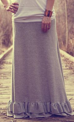 Maxi Skirt with Ruffles