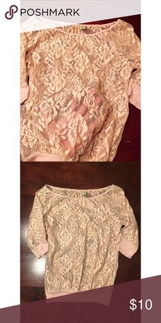 Flower lace shirt Flower lace short (see through ) Eyeshadow Tops