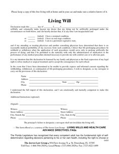 Free Copy of Living Will by Richard_Cataman - living will sample