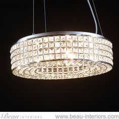 Chrome Round Glamour Chandelier http://wu.to/oekIq0 #home #Essex