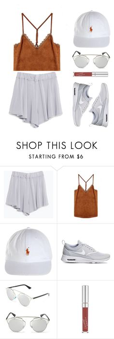 """Camel"" by baludna ❤ liked on Polyvore featuring Zara, NIKE and Christian Dior"