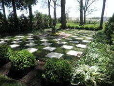 checkerboard path | ... brick walkway, go behind a hedge and surprise! A checkerboard bed
