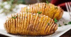 More tasty potato dishes to try - Village News Hasselback Potatoes, Baked Potatoes, Rib Recipes, Potato Recipes, How To Cook Potatoes, Food Club, Tasty, Yummy Food, Garlic