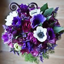 purple winter wedding flowers - Google Search
