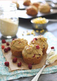 Cranberry Corn Muffins | runningtothekitchen.com