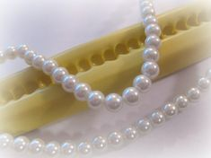 String Pearl Mold Candy - I have 3 sizes of fondant pearl molds along with several jars of sugar pearls.