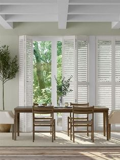 Hosting a cooling white shade upon a strong advanced polymer structure, the San Jose Premium Argent White shutter blinds boast a contemporary colourway, and a natural design that will last through the years. Perfect for your home interior, enjoy in your dining room, kitchen or living room for the very best style. White Shutter Blinds, White Shutters, Wooden Shutters, Exterior Shutters, Pure White, Cool Style, Curtains, Pure Products