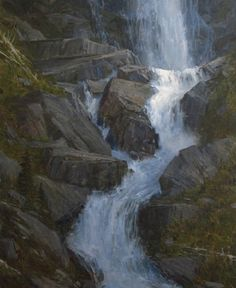 "CAROLE COOKE LANDSCAPES,  ""FALLING WATER"" LEGACY GALLERY"